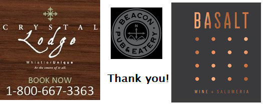 Whistler Beacon Pub, Crystal Lodge and Basalt donate $2,588