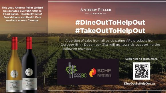Andrew Peller Limited supports BC Hospitality Foundation and Food Banks BC